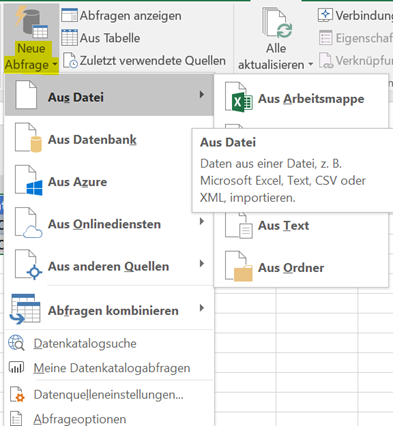 Self Service Data Preparation mit Microsoft Excel – Data Science Blog